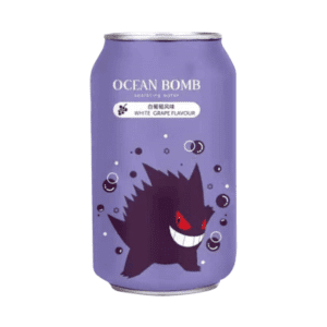 Ocean Bomb Gengar Sparkling Water White Grape Flavour